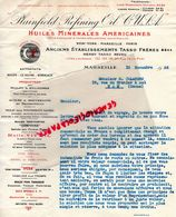 13- MARSEILLE- NEW YORK- PARIS-RARE LETTRE PLAINFIELD REFINING OIL- HUILES MINERALES VIT 'OIL- HENRY TASSO NEVEU 1936 - Cars
