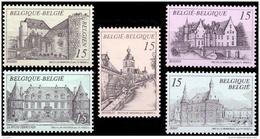 Belgium 2512/16** Chateaux  MNH - Belgique