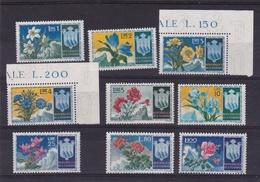 1953 San Marino Saint Marin FIORI I°  FLOWERS Serie Di 9v. MNH** - San Marino
