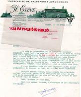 80- AMIENS- RARE LETTRE H. ETEVE- ENTREPRISE TRANSPORTS AUTOMOBILES- DEMENAGEMENTS- 1935 - Transport