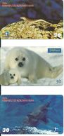 3 Télécartes Brésil  Phoque Dauphin Animal  (D 402) - Brésil
