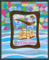 1977 Guinea Equatoriale Cutty Sark  Velieri Navi Saling Ships Bateaux A Voile Gold Printed MNH** - Equatorial Guinea