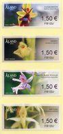 ALAND (2018). Mint Stamps - ATM - Orchids / Orquídeas / Orchideen / Orchid / 蘭科 / Orchideeën / Kämmekkäkasvit - Aland