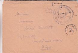 Belgique - Lettre De 1945 - Oblit Turnhout - Exp Vers Brugge - Belgisch Commissariaat Voor Repatrieering - Cartas