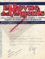 75- PARIS- LETTRE LA REVUE DES AGENTS DU CYCLE-VELO-MOTO-AUTO-AUTOMOBILE-14 RUE BRUNEL-PRESSE 1936 - Printing & Stationeries