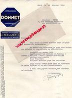 77- MEAUX- RARE LETTRE AUTOMOBILES DONNET - MELIZET 32 COURS RAOULT-1930 A M. FEVRE ALFORTVILLE - Cars