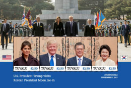 Tuvalu 2018 U.S. PRESIDENT TRUMP VISITS KOREAN PRESIDENT MOON JAE-IN  I201803 - Tuvalu