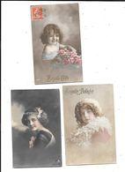 10646 - Lot De 3 CPA Portraits Petite Fille, Ajouts Noeud  Dans Les Cheveux - Portraits