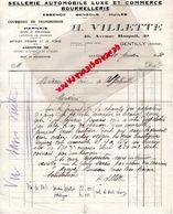 94- GENTILLY- RARE LETTRE MANUSCRITE SIGNEE H. VILLETTE- SELLERIE AUTOMOBILE-BOURRELLERIE-ESSENCE-40 AV. RASPAIL-1930 - Cars