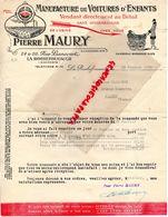 16- LA ROCHEFOUCAULD- RARE LETTRE SIGNEE PIERRE MAURY- MANUFACTURE VOITURES ENFANTS-24 RUE LIANCOURT- 1932 - Old Professions