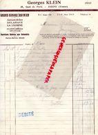 89- JOIGNY- RARE LETTRE GEORGES KLEIN- GRANS GARAGE JOVINIEN-DELAHAYE -LA LICORNE- SOLEX-35 QUAI DE PARIS-1934 - Cars