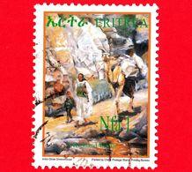 ERITREA - Usato - 2004 - Dipinto - Donna, Bambino, Cammello - Child And Woman - 1. Nfa - Eritrea