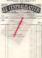 52- LANGRES- RARE LETTRE LE CENTRALISATEUR-PRESSE AUTOMOBILE INDUSTRIE-9 RUE PETIT CLOITRE-PRESSE 1934 - Printing & Stationeries