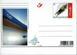 Belgien Belgie Belgium 2006 - Rodeln Rodelen Tobogganing - Briefkarte - Winter 2006: Turin