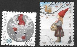 Finlande 2016 N°2444/2445 Oblitérés Noël - Finland