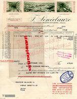 AFRIQUE-ALGERIE- SAINT EUGENE- ORAN-RARE FACTURE F. SENECLAUSE-1933  VUE DOMAINE -COULOIR DES CUVES VITICULTEUR - Factures & Documents Commerciaux