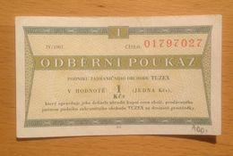 Czechoslovakia TUZEX  1 Kcs IV/1981 - Czechoslovakia