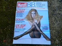 BRIGITTE BARDOT DEESSE EN COLLANT  AFFICHE COUVERTURE  PARIS MATCH 1984  POUR SES 50 ANS (PHOTO JICKYDUSSART) - Manifesti