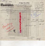 75- PARIS-  FACTURE AUTOMOBILES ROSENGART- 2 BD. DIXMUDE- 1934 - Cars