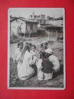 TASHKENT 1930x Children, Girls Of The Uzbeks. Types.  Russian Postcard. - Uzbekistan