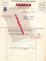 67- STRASBOURG- FACTURE HUILES ANTAR- HUILE AUTOMOBILES- AUTO- RAFFINEE A PECHELBRONN-32 ALLEE DE LA ROBERTEAU- 1934 - Cars