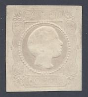 PORTUGAL 1855 DOM PEDRO V 100r LILAC  Nº 8 ESSAY ON  CARTON PAPER - 1855-1858 : D.Pedro V