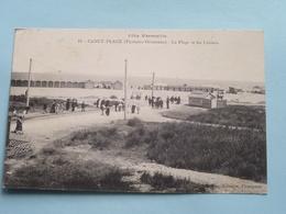 La Plage Et Les Cabines ( 13 - J. Fau Librairie ) Côte Vermeille - Anno 1915 ( Voir Photo ) ! - Canet Plage