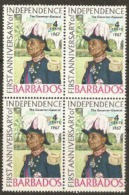 Barbados  1967  SG 367 Anniversary Independence  Unmounted Mint  Block Of Four - Barbados (1966-...)