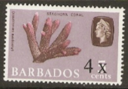 Barbados  1970  SG 398  4 Cents Overprint  Unmounted Mint - Barbados (1966-...)