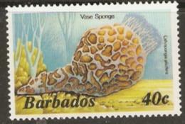 Barbados  1985  SG  802b  Vase Sponge  Unmounted Mint - Barbados (1966-...)