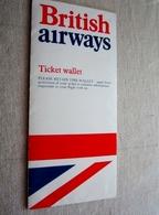 BRITISH AIRWAYS BILLET AVION  1978 CARDIFF TO PARIS AVEC COURRIER ITINÉRAIRES ET HORAIRES - Europe