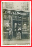 A IDENTIFIER - CARTE PHOTO -- Magasin - Boulangerie - état - Negozi