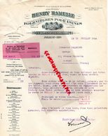 75- PARIS- LETTRE HENRY HAMELLE- FOURNITURES POUR USINES -VALVOLINE-23 BD. JULES FERRY-1934 FOURNISSUER MARINE ET GUERRE - Old Professions