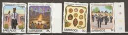 Barbados  1987 SG  841-4  Anniversary Scouting  Unmounted Mint - Barbados (1966-...)