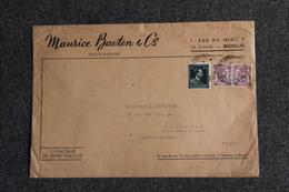 Lettre De BRUXELLES Vers FRANCE ( TOULOUSE) - Moyen Format - Covers & Documents