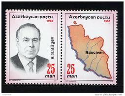 AZERBAIDJAN AZERBAIJAN 1993, ALEIEV AVEC ERREUR HAXCIVAN,  2 Valeurs, Neufs / Mint. R275 - Azerbaïdjan