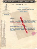 51- REIMS- RARE LETTRE COMPAGNIE DES ACIERS DU NORD EST- 1933  ACIER - Old Professions