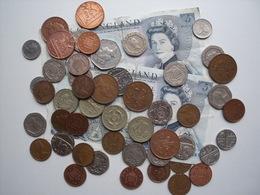 GRANDE BRETAGNE   = MONNAIES ACTUELLES =  UN LOT DE 18,22 LIVRES STERLING - 1971-… : Monete Decimali