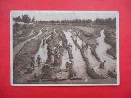 SAMARKAND 1930 Restoration Of The Destroyed Irrigation Ditch, Restoration Works. Russian Postcard - Uzbekistan