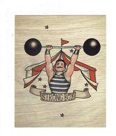 Grande Double Cpm - Thème Cirque Chapiteau Homme Musclé Altère - STRONG BOY - Circus