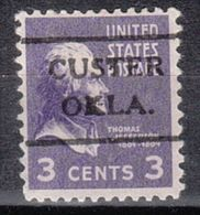 USA Precancel Vorausentwertung Preo, Locals Oklahoma, Custer 716,5 - Vereinigte Staaten