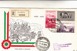 Cover Battaglia Di Magenta, Guerra D'Indipendenza. Primo Giorno Di Emissione 1959 Cover Racc. - 6. 1946-.. Repubblica