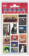 Pochette De 3 Feuilles De Stickers Découpés CHATS Pour Décorer Cahiers Livres - Scrapbooking
