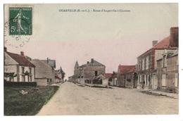 28 EURE ET LOIR - OUARVILLE Route D'Angerville à Chartres, Aquarellée (voir Descriptif) - Other Municipalities