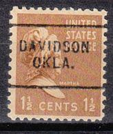 USA Precancel Vorausentwertung Preo, Locals Oklahoma, Davidson 703 - Vereinigte Staaten