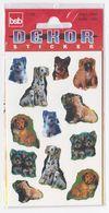 Pochette De 3 Feuilles De Stickers Découpés CHIENS Pour Décorer Cahiers Livres - Scrapbooking