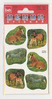 Pochette De 3 Feuilles De Stickers Découpés CHEVAUX Pour Décorer Cahiers Livres - Scrapbooking
