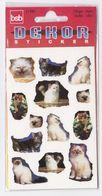Pochette De 3 Feuilles De Stickers Découpés CHATS Pour Décorer Cahiers Livres CHAT - Scrapbooking