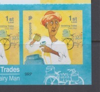 Singapore 2013 Vanishing Trades, Dairy Man Bicycle Booklet **9th Reprint (Imprint 2017J) MNH - Ciclismo