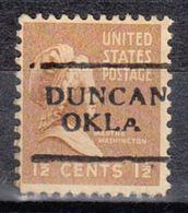 USA Precancel Vorausentwertung Preo, Locals Oklahoma, Duncan 701 - Vereinigte Staaten